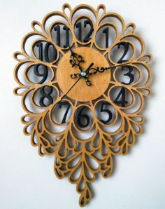 Laser Cut Decorative Clock Free Vector