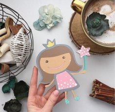 Laser Cut Princess Free Vector