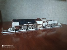 Laser Cut Steam Locomotive 4mm Free Vector