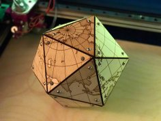 Laser Cut Dymaxion Map DXF File
