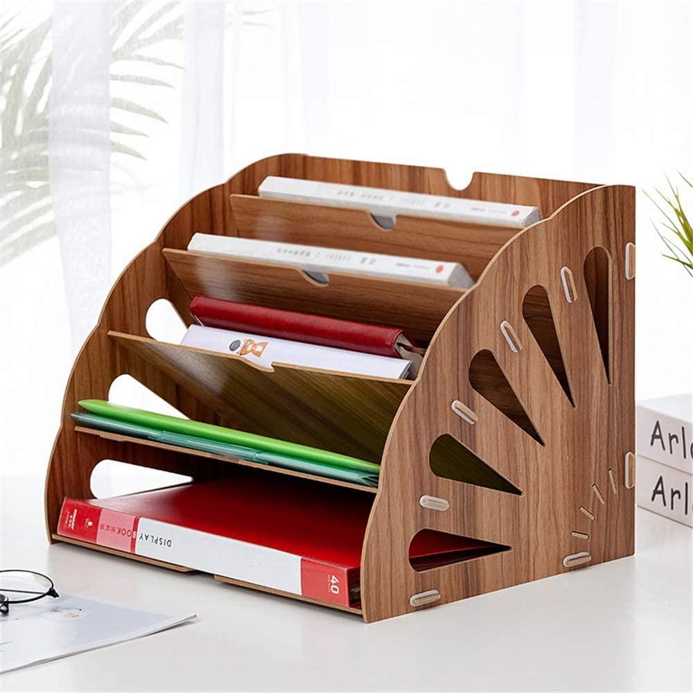 Laser Cut Office Desktop Stationery Rack Letter Magazine File Folder Holder Document Organizer Free Vector