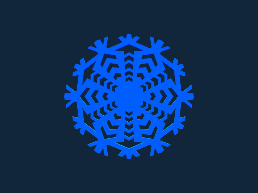 Snowflake pink stl file