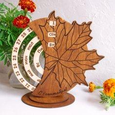 Laser Cut Wooden Perpetual Calendar Plans Free Vector
