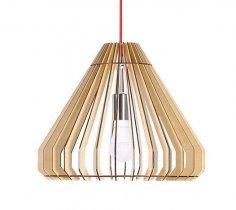 Laser Cut Modern Hanging Lamp Free Vector