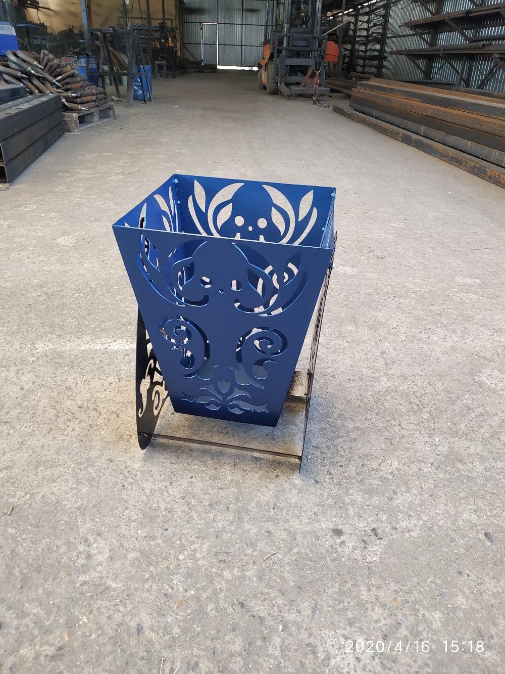 Garbage Basket Waste Container Laser Cut Plasma Cut Plans DXF File