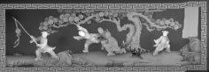 Scene 3D Grayscale Image BMP File