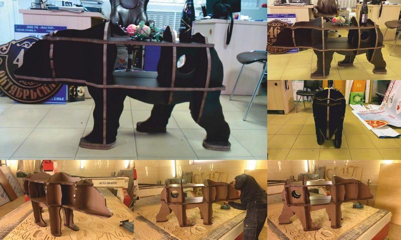 Bear Bookshelf Laser Cut CNC Router 3D Puzzle Free Vector