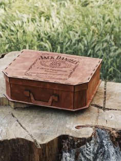 Laser Cut Suitcase Gift Box Free Vector