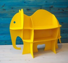 Laser Cut Elephant Shelf Book Shelf Furniture For Baby Nursery Kids Room Free Vector