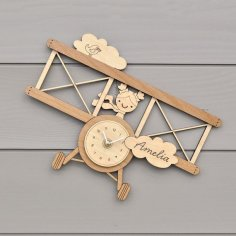 Laser Cut Wall Clock Template for Kids Room Free Vector