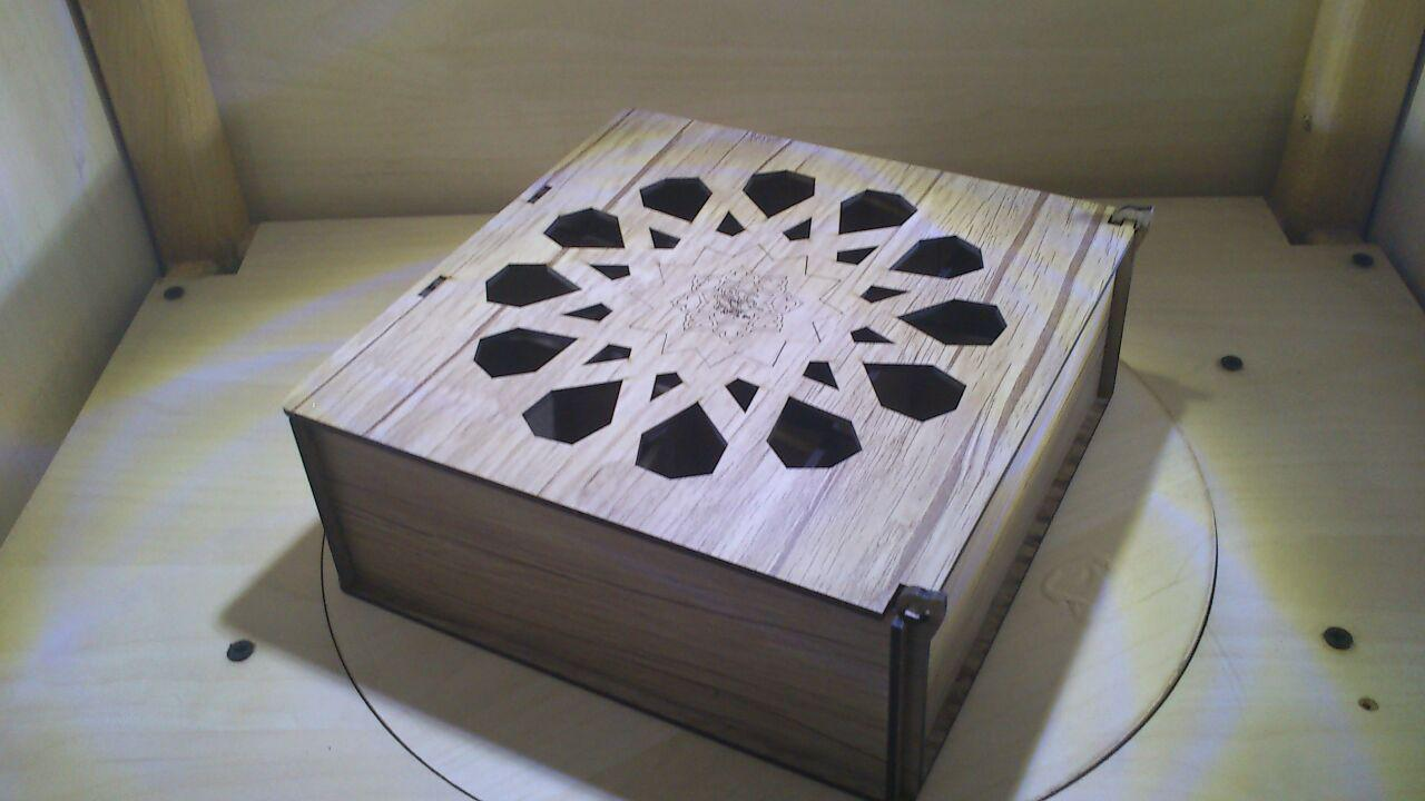 Laser Cut Wooden Storage Box With Compartments Free Vector