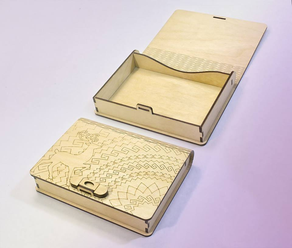 Laser Cut Wood Book Box With Clasp Template Free Vector