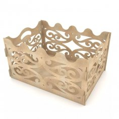 Gift Box For Party Laser Cut Free Vector
