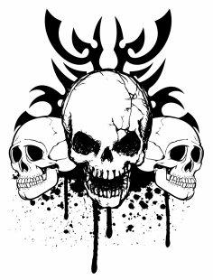 Skull Tribe Free Vector