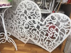 Laser Cut Heart Decor Free Vector