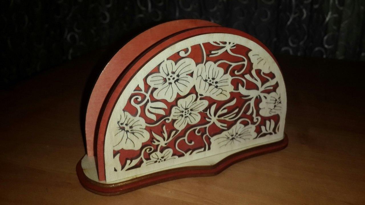 Laser Cut Decorative Napkin Holder Free Vector