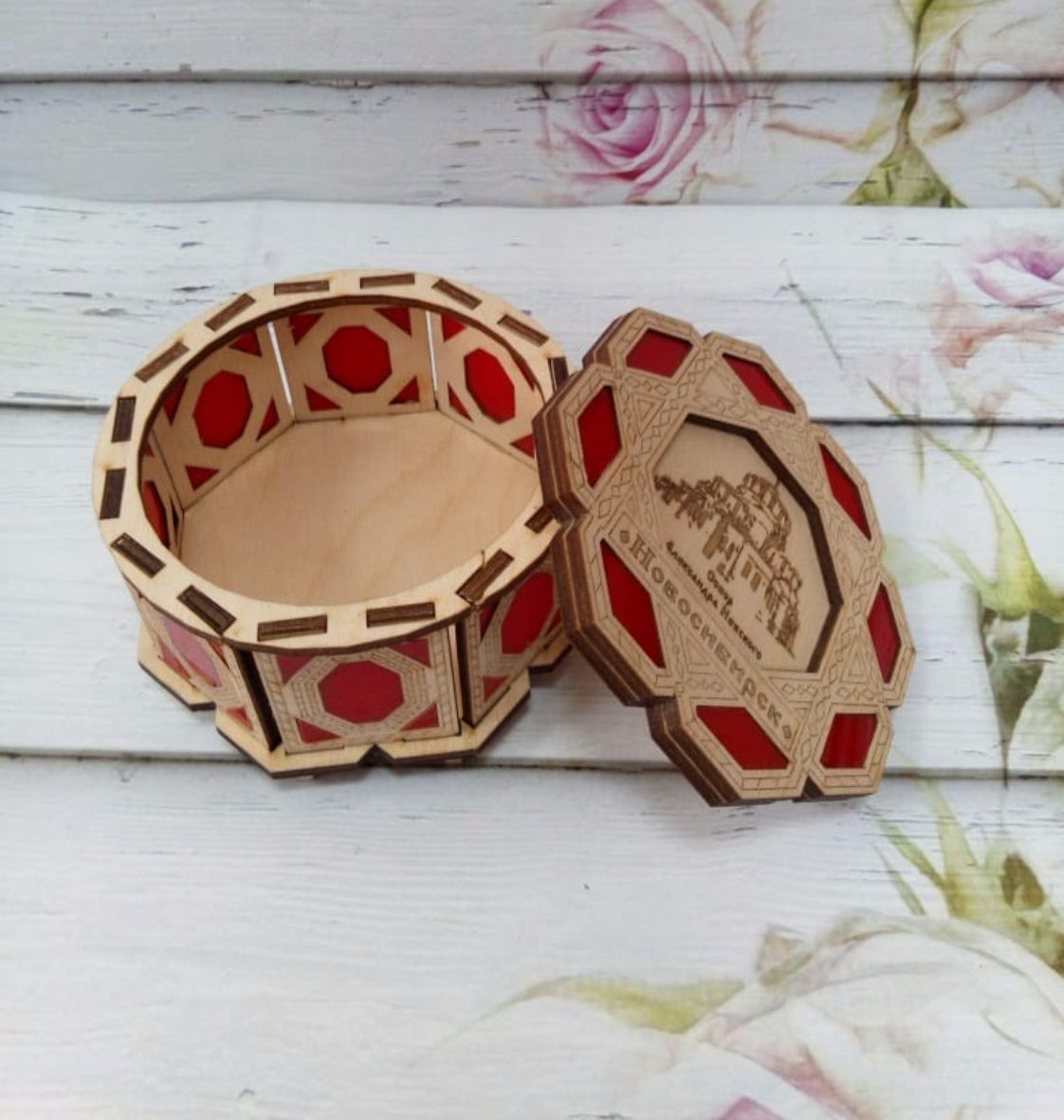 Decor Box with Lid Laser Cut Free Vector