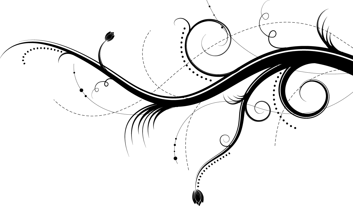 Swirl Abstract Branches Vector Art Free Vector