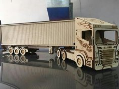 Laser Cut Scania R580 Truck Free Vector