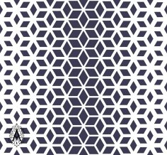 Decorative Seamless Geometric Pattern Background DXF File