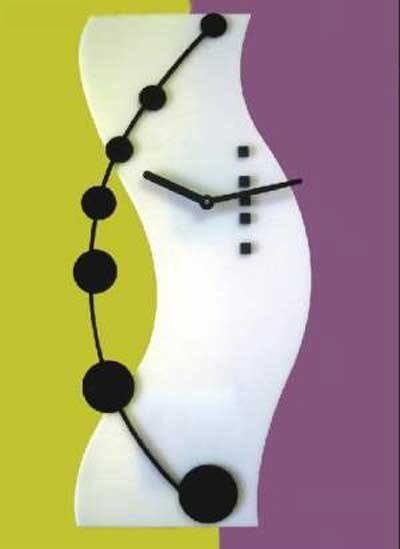 Laser Cut Hi-tech Clock Template Free Vector