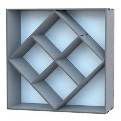 Laser Cut Cabinet Storage Rack DXF File