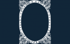 Frame Fancy dxf file