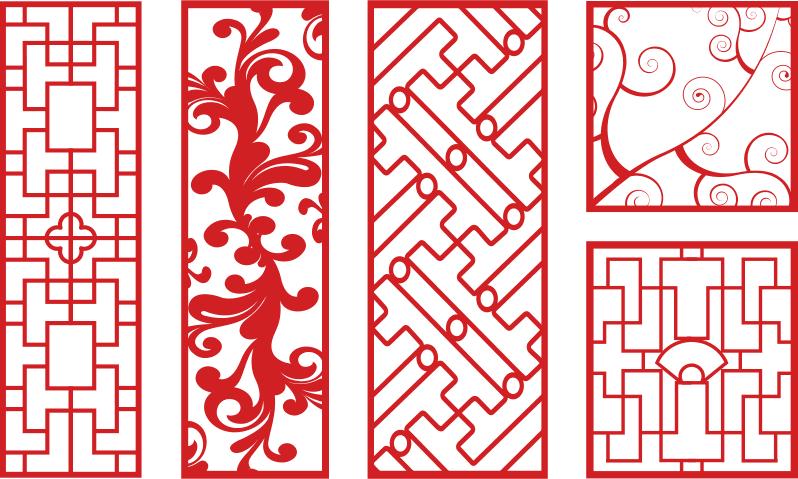 Vector Art CNC Patterns Free Vector