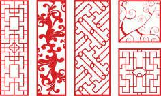 Vector Art CNC Patterns Free Vector