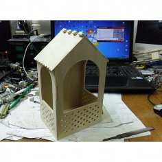 Bird Feeder 3D Puzzle DXF File