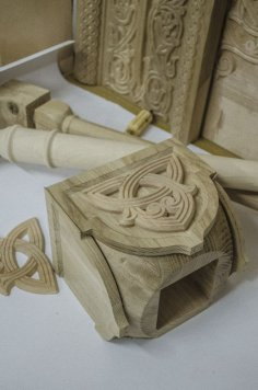 Column Wood Carving CDR File