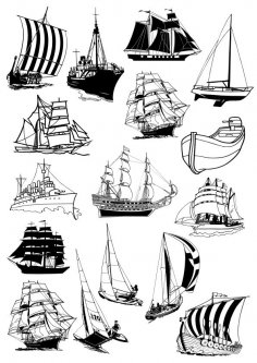 Sail Ships Free Vector