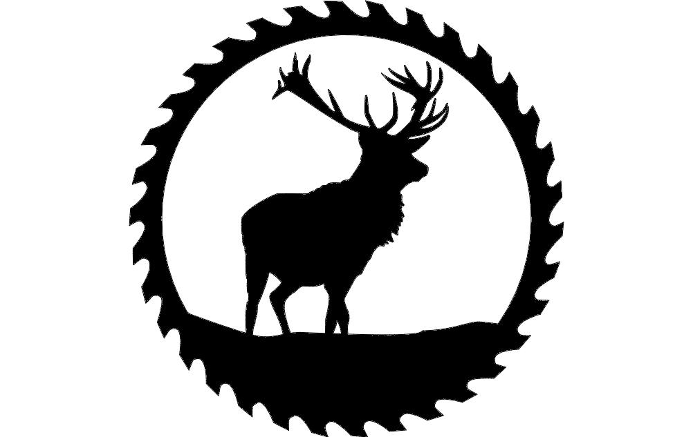 3d Wood Deer Head