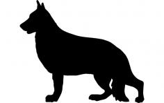 German Shepherd dxf File