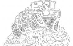 4 Door Jeep dxf File