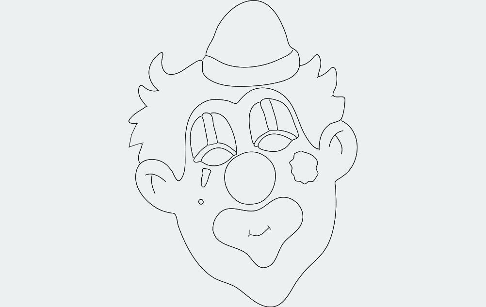 Clown dxf File