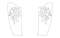 Horse Bracket Flipped dxf File