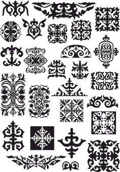 Kazah Ornament Vectors Free Vector
