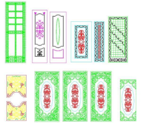Interior Panel Doors CDR File