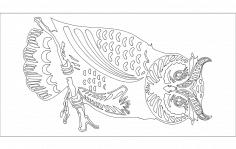 Large Owl dxf File