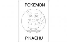 Pikachu dxf File