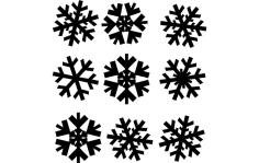 Snowflakes dxf File