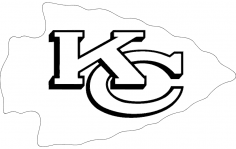 2000px kansas City Chiefs Logo Svg dxf File