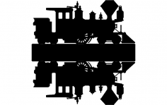 Train Silhouette dxf File