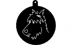 Wire Fox Terrier dxf File