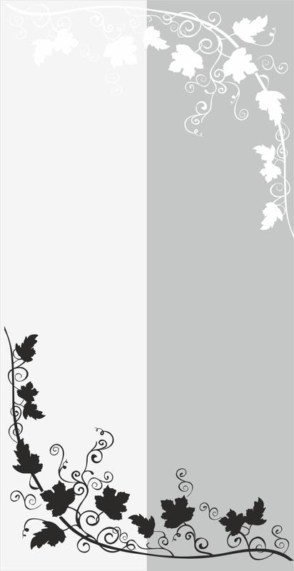 Branch With Leaves And Vine Sandblast Pattern Free Vector