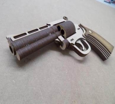 Magnum Pistol 4 Inch Barrel Laser Cut Pattern DWG File