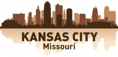 Kansas City Skyline Free Vector