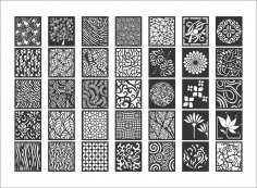 Mega Collection of Decorative Screen Patterns DXF File