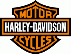 Harley Davidson Logo Vector Free Vector